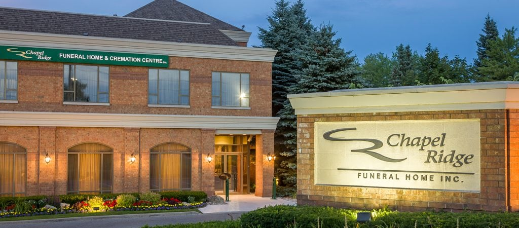 Markham Funeral Home Chapel Ridge Funeral Home And Cremation Centre